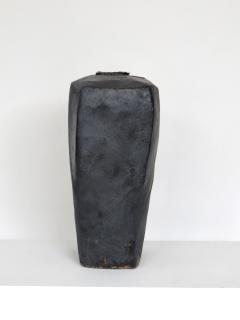 David Whitehead David Whitehead Ceramic Artist Black Wood Fired Ceramic Vase La Borne France - 1064099