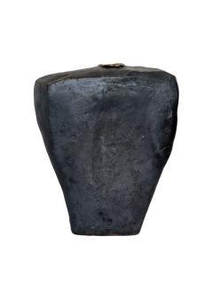 David Whitehead David Whitehead Ceramic Artist Black Wood Fired Ceramic Vase La Borne France - 1064104
