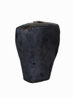 David Whitehead David Whitehead Ceramic Artist Black Wood Fired Ceramic Vase La Borne France - 1064107