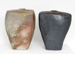 David Whitehead David Whitehead Ceramic Artist Black Wood Fired Ceramic Vase La Borne France - 1064108