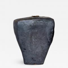 David Whitehead David Whitehead Ceramic Artist Black Wood Fired Ceramic Vase La Borne France - 1065899