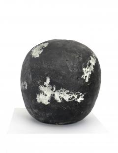 David Whitehead David Whitehead Ceramic Artist White and Black Wood Fired Ceramic Vase La Borne - 1064080
