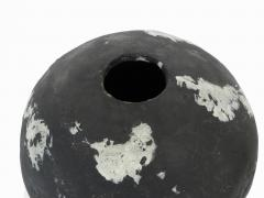 David Whitehead David Whitehead Ceramic Artist White and Black Wood Fired Ceramic Vase La Borne - 1064082