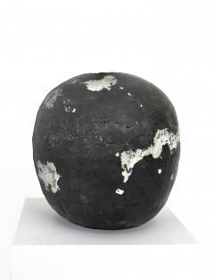 David Whitehead David Whitehead Ceramic Artist White and Black Wood Fired Ceramic Vase La Borne - 1064084