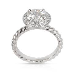 David Yurman Capri Halo Diamond Engagement Ring in Platinum GIA H VS1 1 30 CTW - 1364502