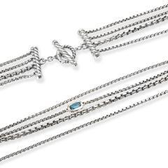 David Yurman Confetti London Blue Topaz Necklace in Sterling Silver - 1298922
