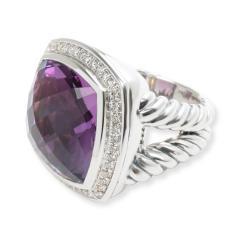 David Yurman David Yurman Albion Amethyst Diamond Ring in Sterling Silver - 1284038