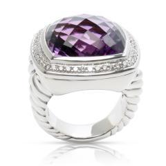 David Yurman David Yurman Albion Amethyst Diamond Ring in Sterling Silver - 1284039