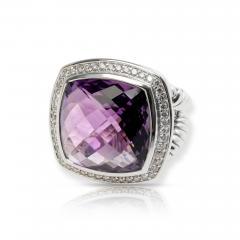 David Yurman David Yurman Albion Amethyst Diamond Ring in Sterling Silver - 1286670