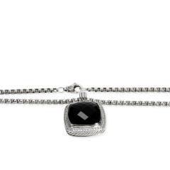 David Yurman David Yurman Albion Black Onyx Diamond Necklace in Sterling Silver 0 78 CTW - 1708544