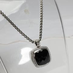 David Yurman David Yurman Albion Black Onyx Diamond Necklace in Sterling Silver 0 78 CTW - 1708545