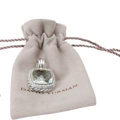 David Yurman David Yurman Albion Prasiolite Diamond Pendant in Sterling Silver 0 32 ctw - 1283969
