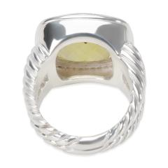 David Yurman David Yurman Albion Ring with Prasiolite and Diamonds 14mm 0 45 ctw - 1284297