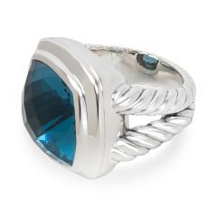 David Yurman David Yurman Blue Topaz Albion Ring in Sterling Silver - 1282548