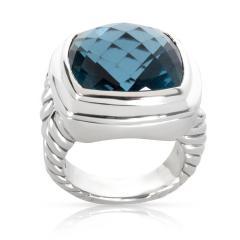 David Yurman David Yurman Blue Topaz Albion Ring in Sterling Silver - 1282550