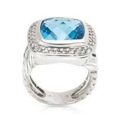 David Yurman David Yurman Blue Topaz Albion Ring in Sterling Silver - 1283822