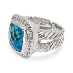 David Yurman David Yurman Blue Topaz Albion Ring in Sterling Silver - 1283823