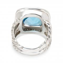 David Yurman David Yurman Blue Topaz Albion Ring in Sterling Silver - 1283824
