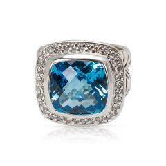 David Yurman David Yurman Blue Topaz Albion Ring in Sterling Silver - 1286565