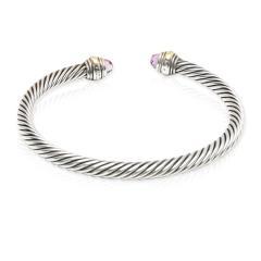 David Yurman David Yurman Cable Collectibles Amethyst Cuff in 14K Gold Sterling Silver - 1282691