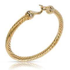 David Yurman David Yurman Cable Collectibles Buckle Diamond Bracelet in 18K Yellow Gold 0 12 - 1283190