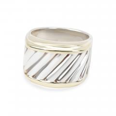 David Yurman David Yurman Cigar Band in 14K Yellow Gold Sterling Silver - 1286172