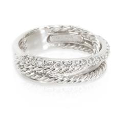 David Yurman David Yurman Crossover Diamond Ring in Sterling Silver 0 17 CTW - 1283419