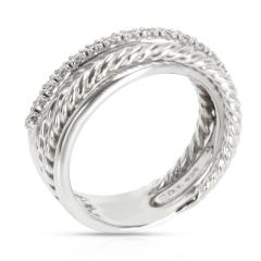 David Yurman David Yurman Crossover Diamond Ring in Sterling Silver 0 17 CTW - 1283420