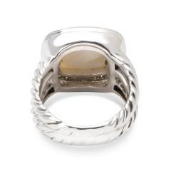 David Yurman David Yurman Diamond Mother of Pearl Albion Ring in Sterling Silver 0 25 ctw - 1283847