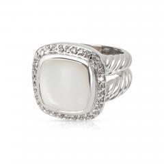 David Yurman David Yurman Diamond Mother of Pearl Albion Ring in Sterling Silver 0 25 ctw - 1286567