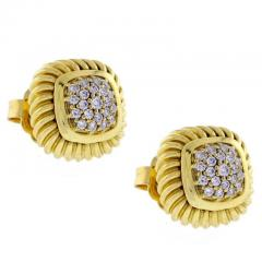David Yurman David Yurman Fluted Pav Diamond Alboin Earrings - 1011927