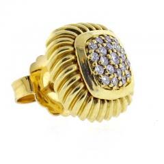 David Yurman David Yurman Fluted Pav Diamond Alboin Earrings - 1011929