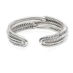 David Yurman David Yurman Labyrinth Diamond Cuff in Sterling Silver 1 77 CTW - 1286614