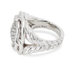 David Yurman David Yurman Labyrinth Diamond Ring in Sterling Silver 1 CTW - 1286821