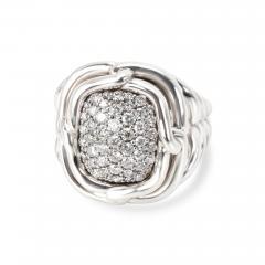 David Yurman David Yurman Labyrinth Diamond Ring in Sterling Silver 1 CTW - 1288383