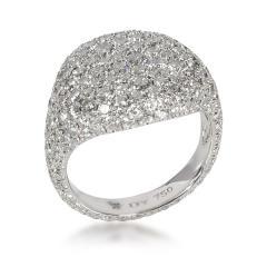 David Yurman David Yurman Pave Diamond Pinky Ring in 18K White Gold 2 65 CTW - 1842040