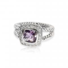 David Yurman David Yurman Petite Albion Amethyst Diamond Ring in Sterling Silver 0 17 ctw - 1841889