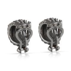David Yurman David Yurman Tempo Diamond Earrings in Darkened Sterling Silver 0 61CTW - 1284633