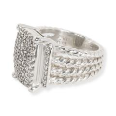 David Yurman David Yurman Wheaton Collection Diamond Ring in Sterling Silver 1 12 CTW - 1285915