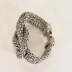 David Yurman Sculptural Twisted French Cable Bracelet in Aluminum Double Band Art Deco Era - 1910569