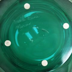 Davide Dona Davide Dona Signed Sculptural Faceted Green Murano Glass Vase Italy 70s - 849261