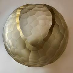 Davide Dona Late 20th Century Sculptural Green Murano Glass Bowl - 1978973