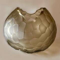 Davide Dona Late 20th Century Sculptural Green Murano Glass Bowl - 1978974