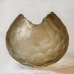 Davide Dona Late 20th Century Sculptural Green Murano Glass Bowl - 1978975