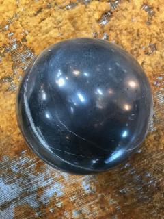 Decorative Dark Grey Marble Sphere Italy - 1027193