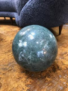 Decorative Green Marble Sphere Italy - 1027133