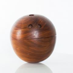 Decorative Modern Bowling Ball Secret Catch it All in Walnut Wood - 1446936