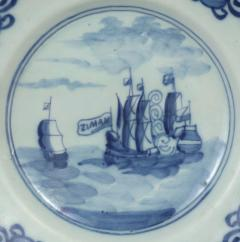 Delft Plate Commerating the Battle of Dogger Bank c 1781 - 1184151