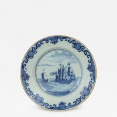 Delft Plate Commerating the Battle of Dogger Bank c 1781 - 1184878