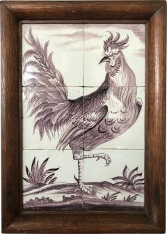 Delft Tile Picture of Rooster - 1518174